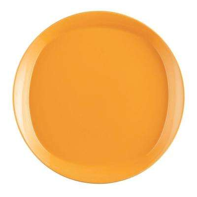 Round and Square 4-Piece Dinner Plate Set in Lemon Zest