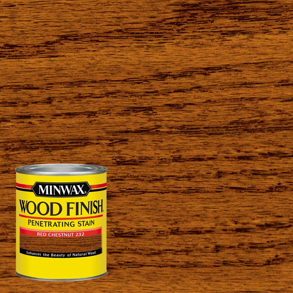 Minwax 1 qt. Wood Finish Red Chestnut Oil Based Interior Stain