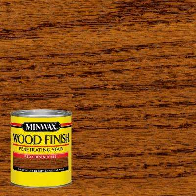 1 qt. Wood Finish Red Chestnut Oil Based Interior Stain (4-Pack)