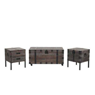 Burke Antique Gray Occasional Table Set