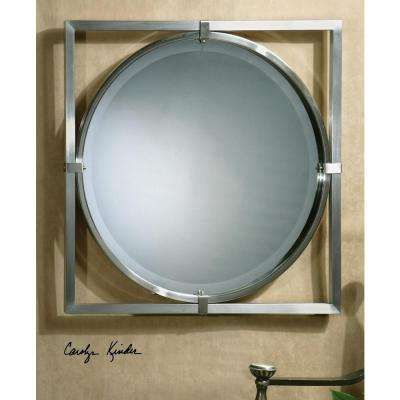 30 in. x 30 in. Brushed Nickel Framed Mirror