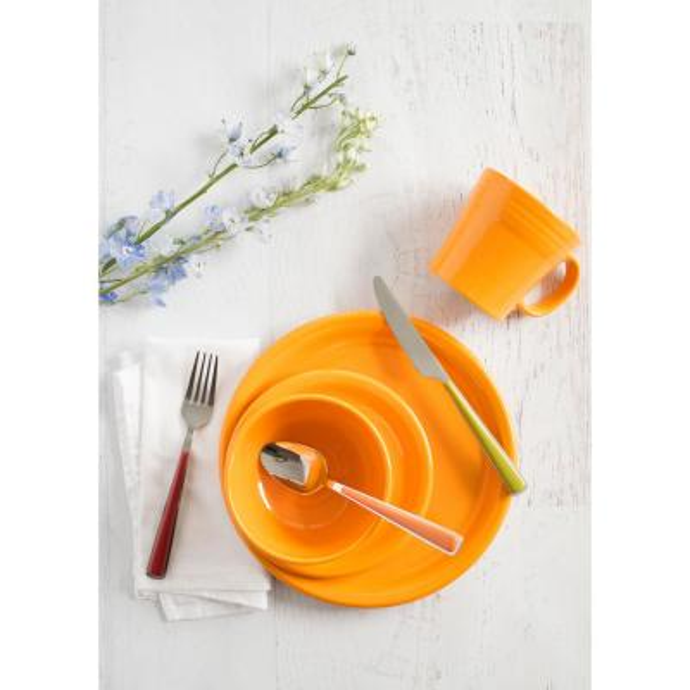 3-Piece Classic Butterscotch Ceramic Dinnerware Set (Service for 1)
