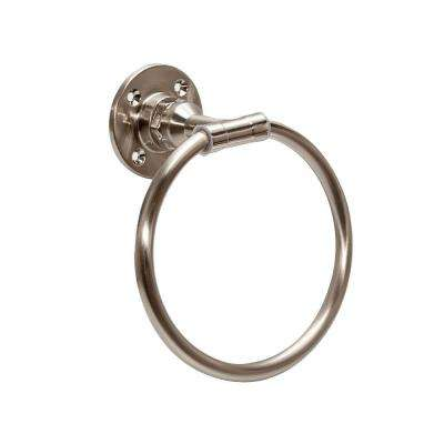 Kimball Towel Ring in Satin Nickel