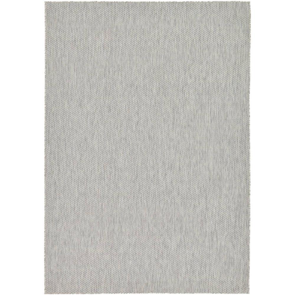 Outdoor Light Gray 7' x 10' Indoor/Outdoor Rug