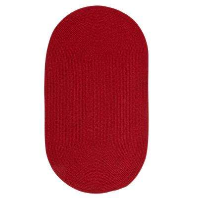 Manteo Dark Red 11 ft. x 14 ft. Oval Area Rug