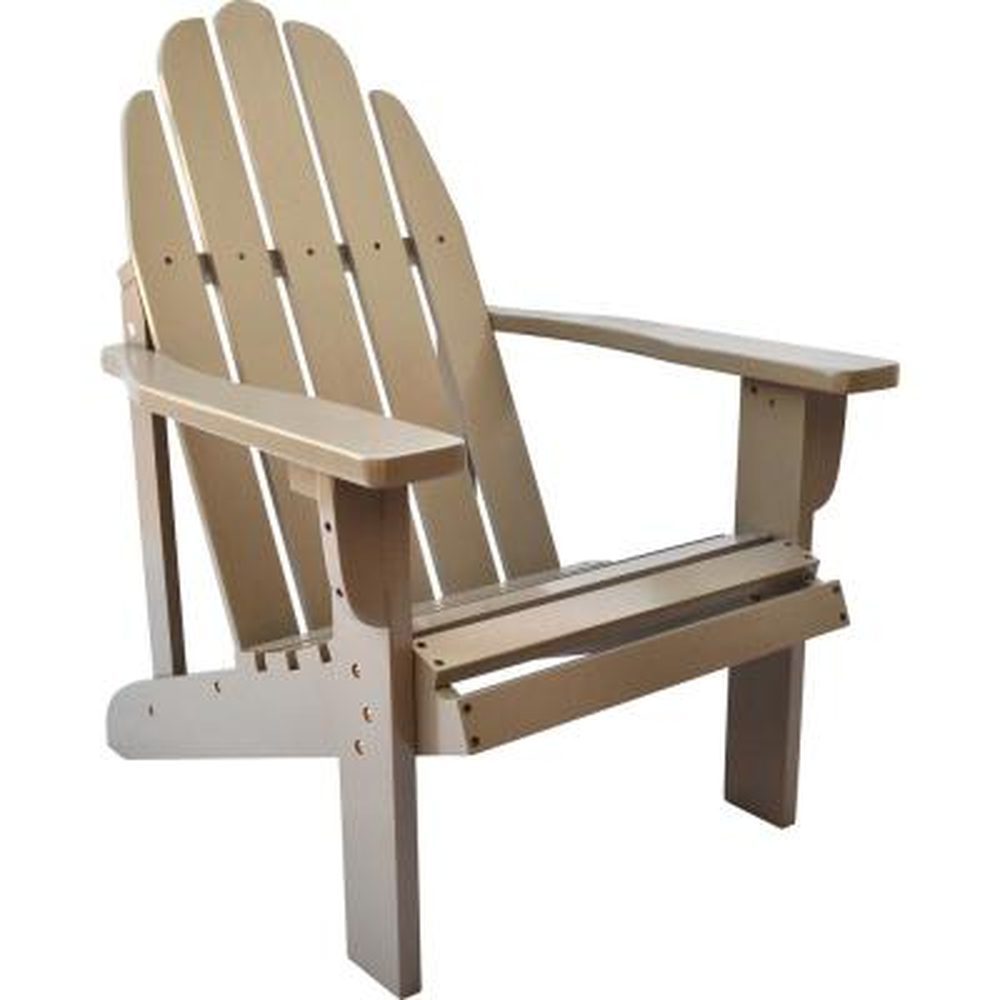 Catalina Cedar Wood Adirondack Chair - Taupe Gray