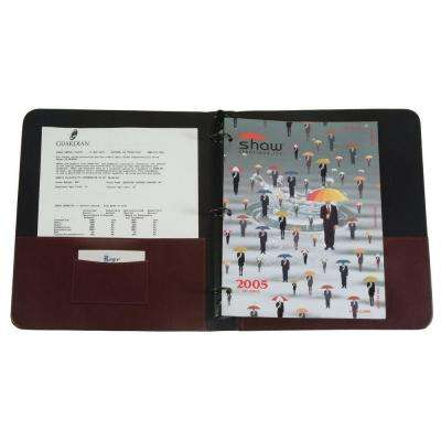 Executive 1 in. Binder Document Organizer, Burgundy