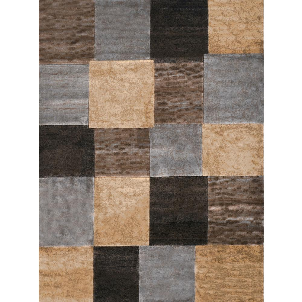 Tribeca Gray/Brown 5 ft. 2 in. x 7 ft. 2 in.