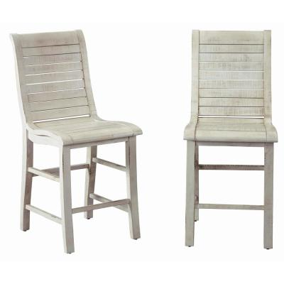 Willow Distressed White Counter Chairs (2-Count)