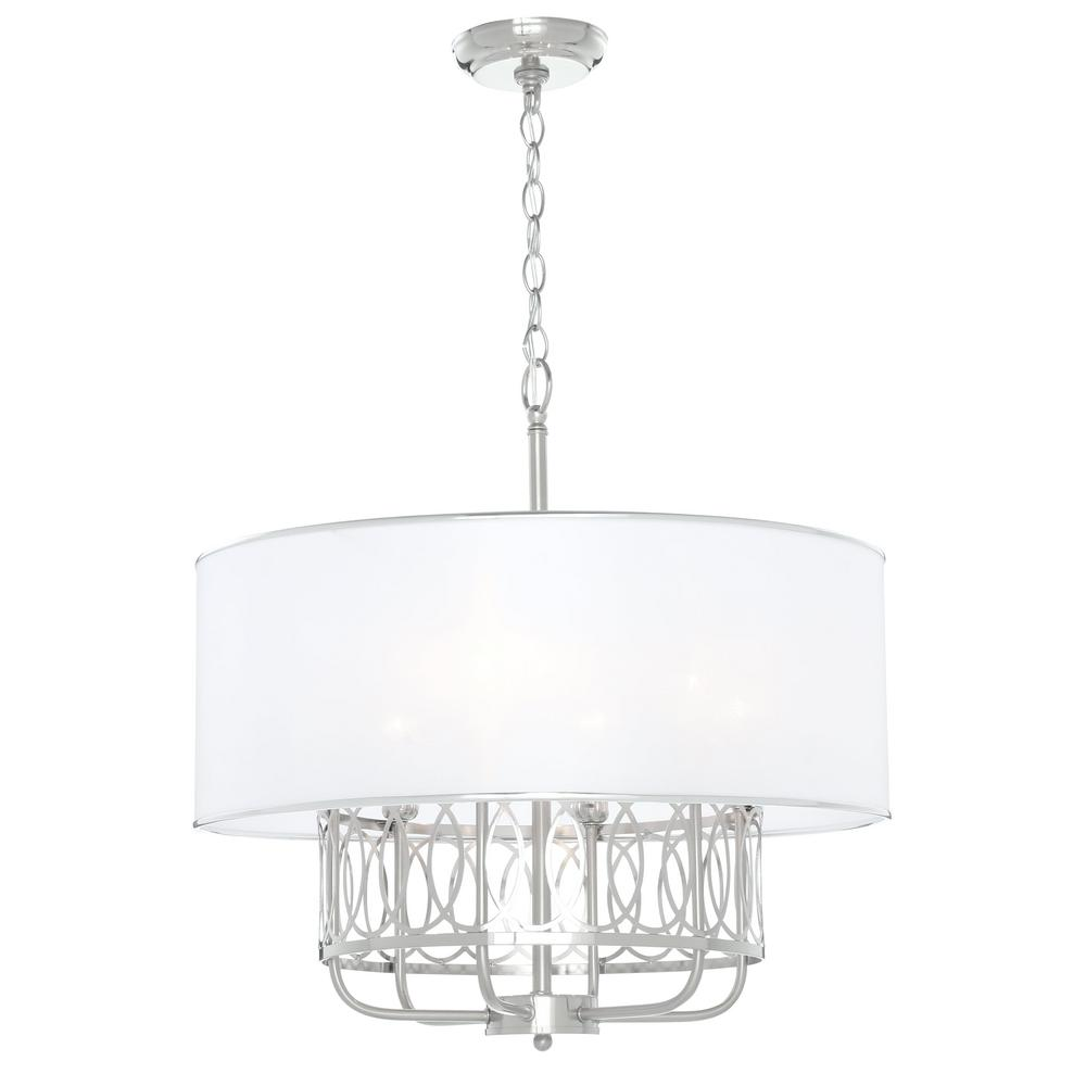 venn 6light brushed nickel chandelier