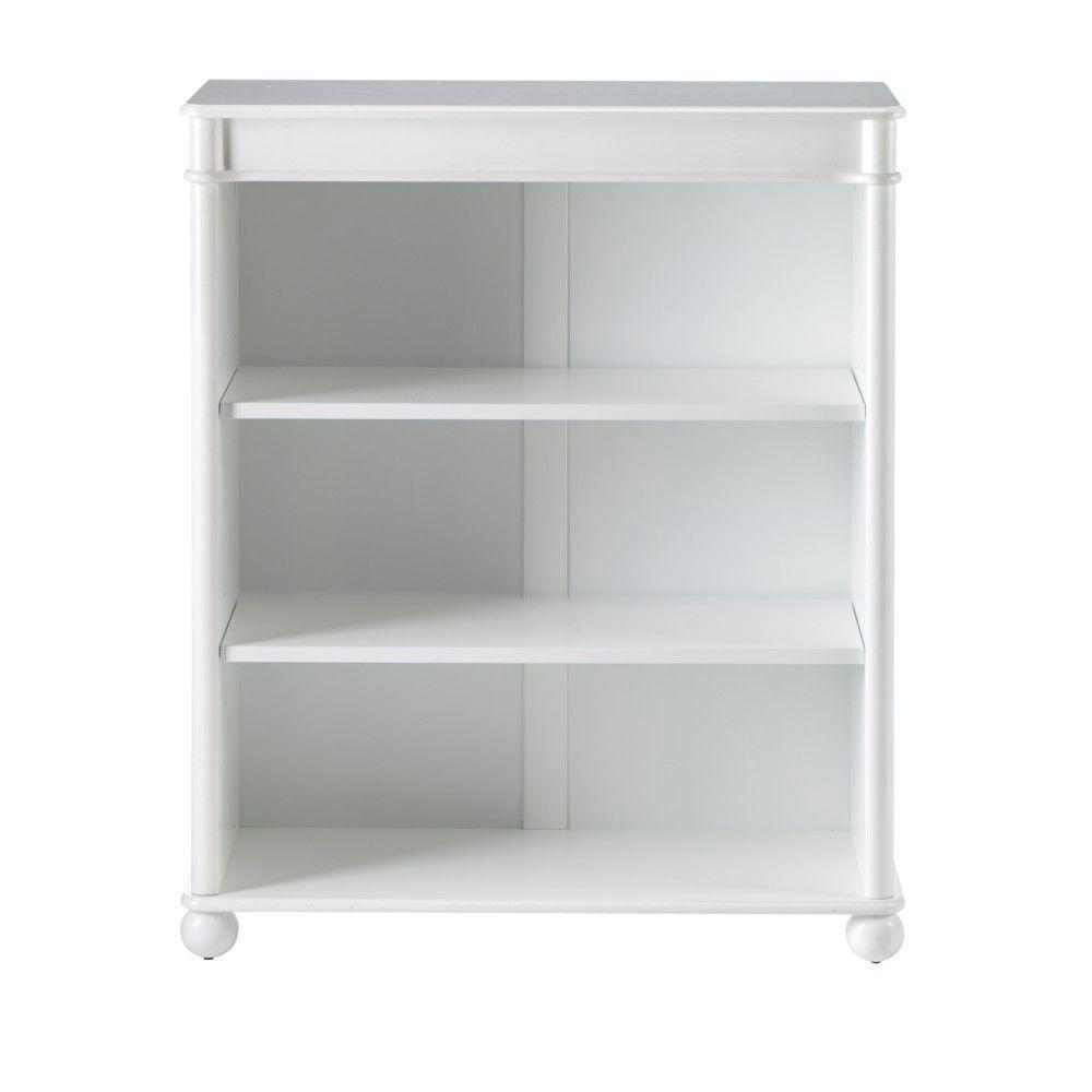Home Decorators Collection Essex 39 in. H Aged Cream 3-Shelf Open Bookcase