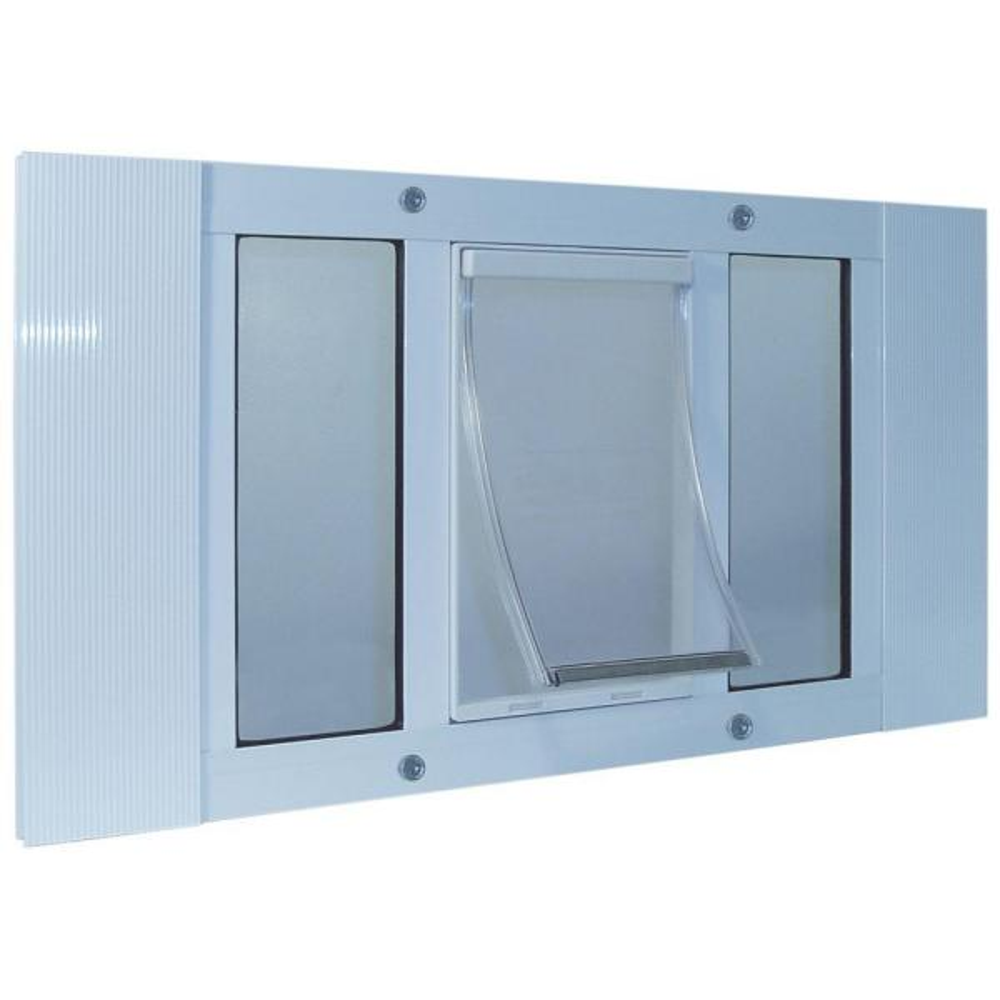 10.5 in. x 15 in. White Original Pet and Dog Door Insert for 33 in. to 38 in. Wide Aluminum Sash Window