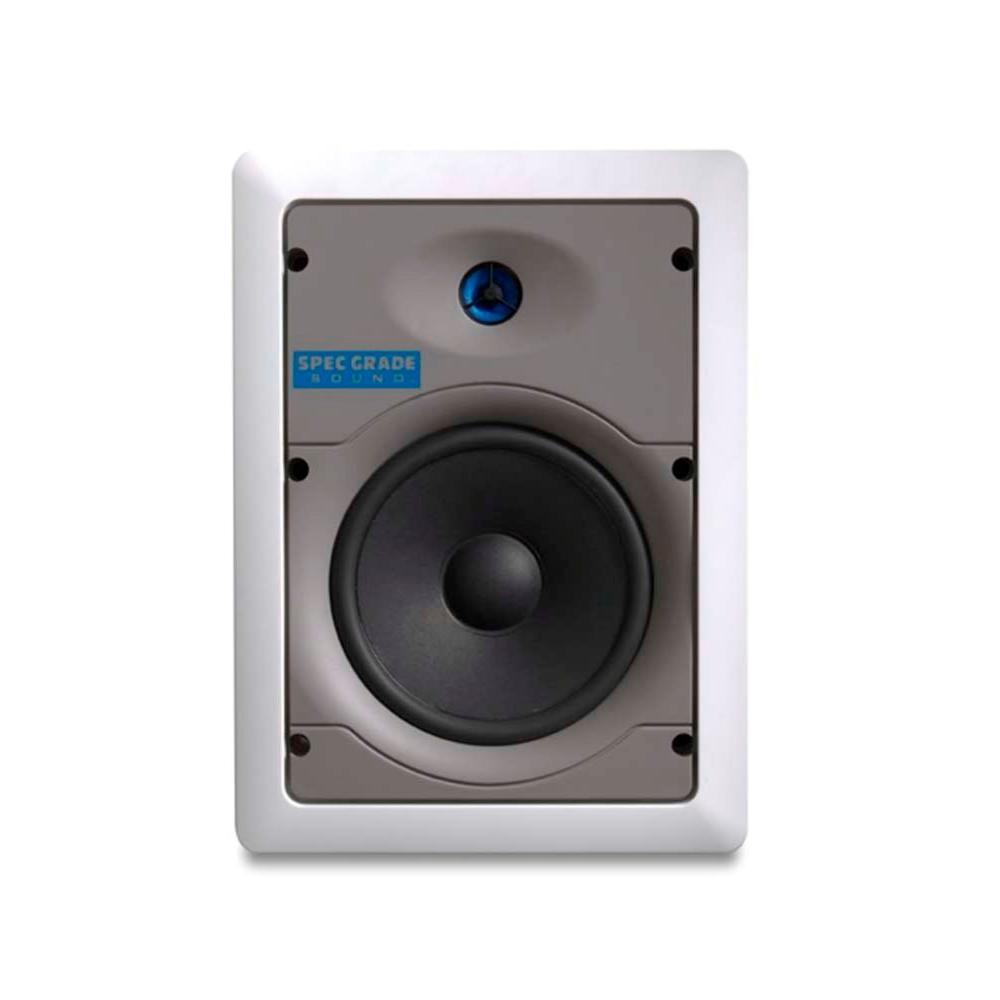 120-Watt 2-Way Spec-Grade Sound In-Wall Speakers - White (1-Pair)