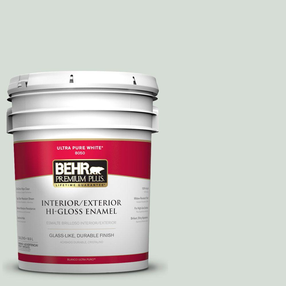 BEHR Premium Plus 5-gal. #700E-2 Lime Light Hi-Gloss Enamel Interior/Exterior Paint