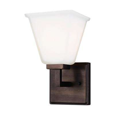 Ellis Harper 5.75 in. W 1-Light Brushed Oil Rubbed Bronze Vanity Light