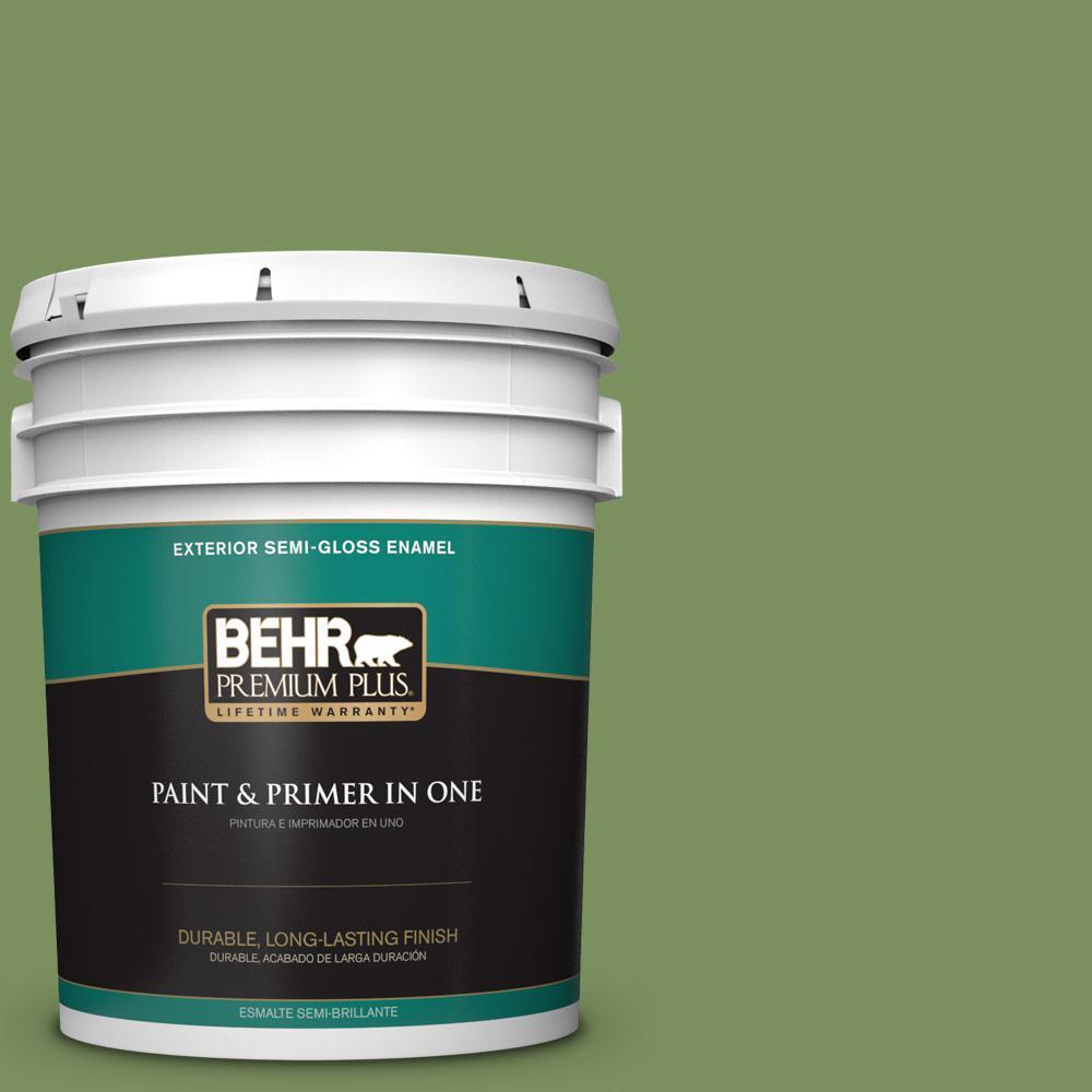 5 gal. #PPU10-03 Green Energy Semi-Gloss Enamel Exterior Paint