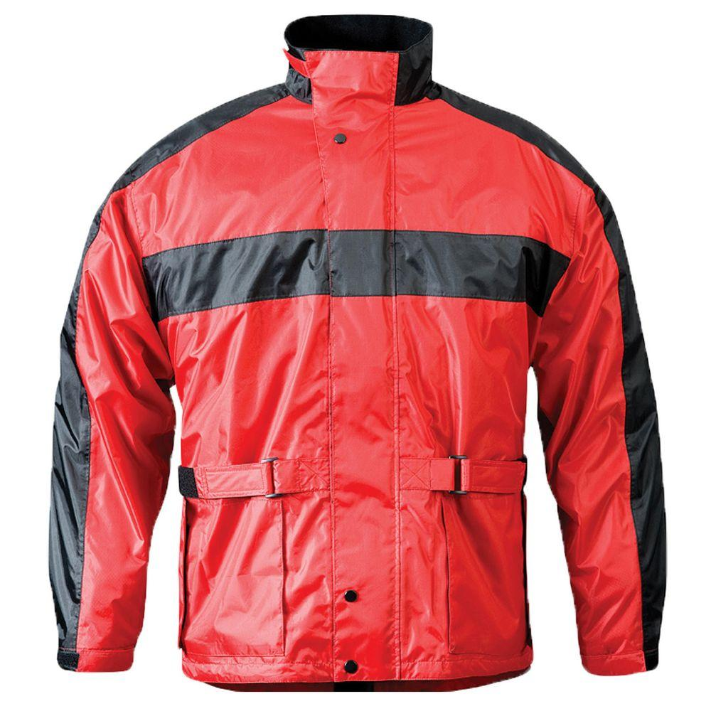 Mossi Mens RX 2 Medium Rain Jacket in Red