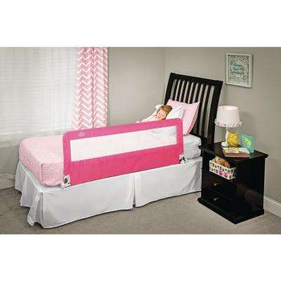 Pink HideAway Extra Long Bed Rail