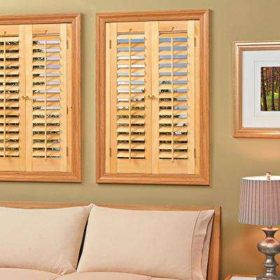 Plantation Light Teak Real Wood Interior Shutter (Price Varies By Size)