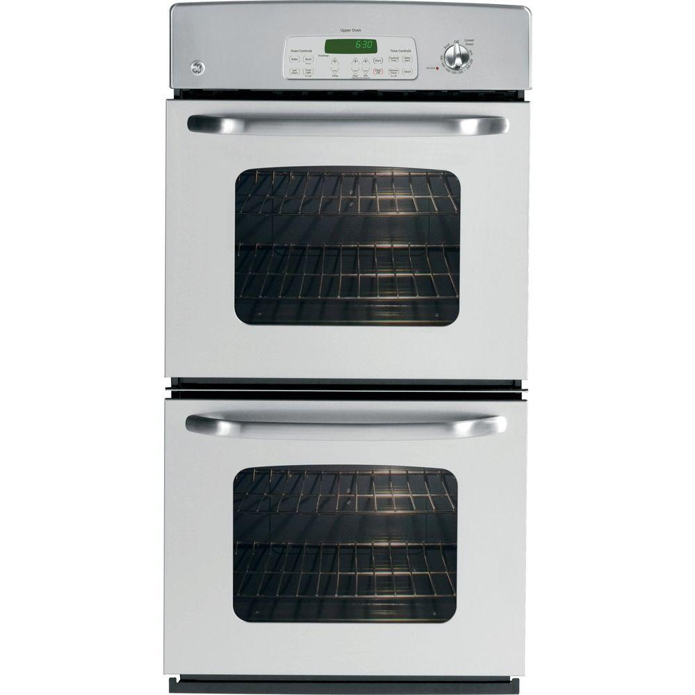GE 27 in. Double Electric Wall Oven Self-Cleaning in Stainless Steel