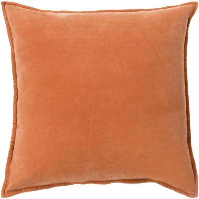 Velizh Orange Solid Polyester 20 in. x 20 in. Throw Pillow