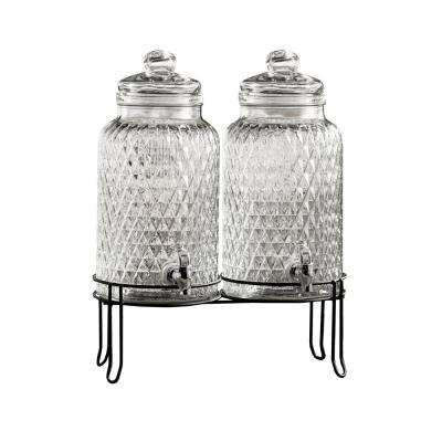 Douglas Beverage Dispensers with Stand (Set of 2)