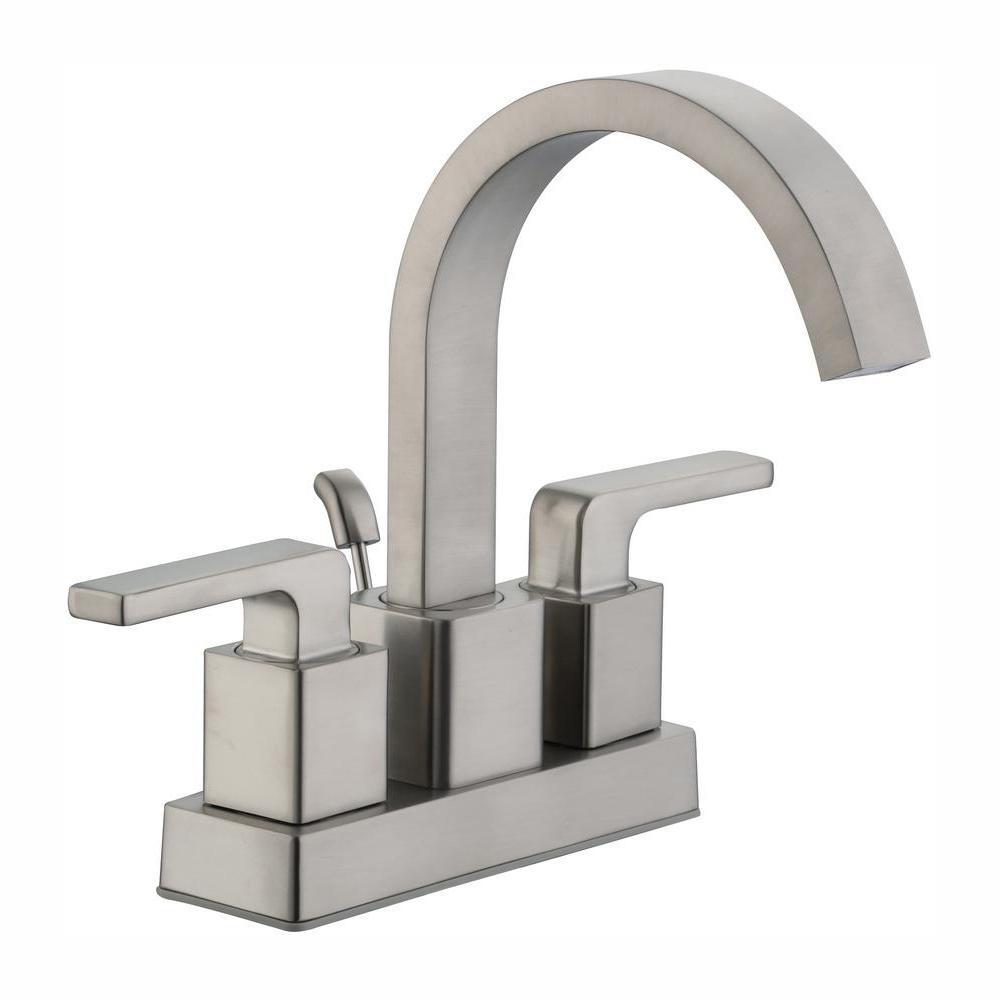 Glacier Bay Farrington 4 in. Centerset 2-Handle Hi-Arc Bathroom Faucet in Brushed Nickel