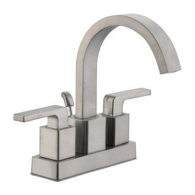 Farrington 4 in. Centerset 2-Handle Hi-Arc Bathroom Faucet in Brushed Nickel