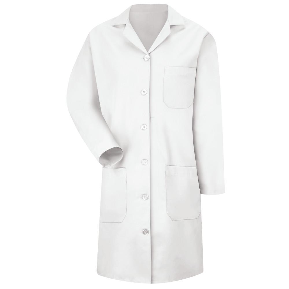 5 Button New Women/'s Full Length White Lab Coat