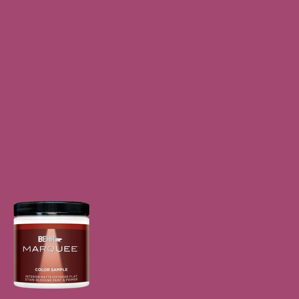 8 oz. #HDC-SM14-1 Fuschia Flair Matte Interior/Exterior Paint Sample