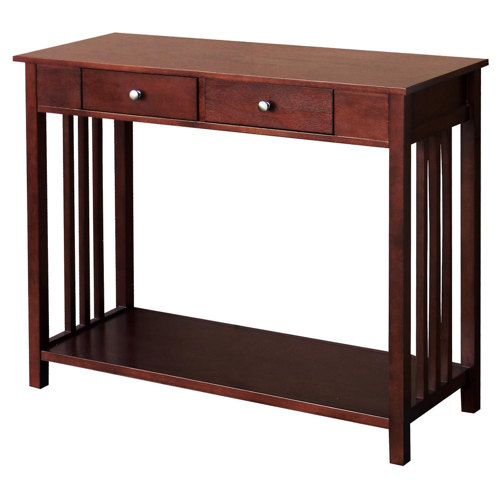 DonnieAnn Hollydale Chestnut 2 Drawer Console Table