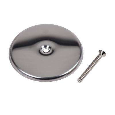 4 in. Round Cover Plate in Stainless Steel