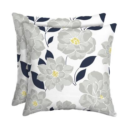 Flower Show Square Outdoor Throw Pillow (2-Pack)