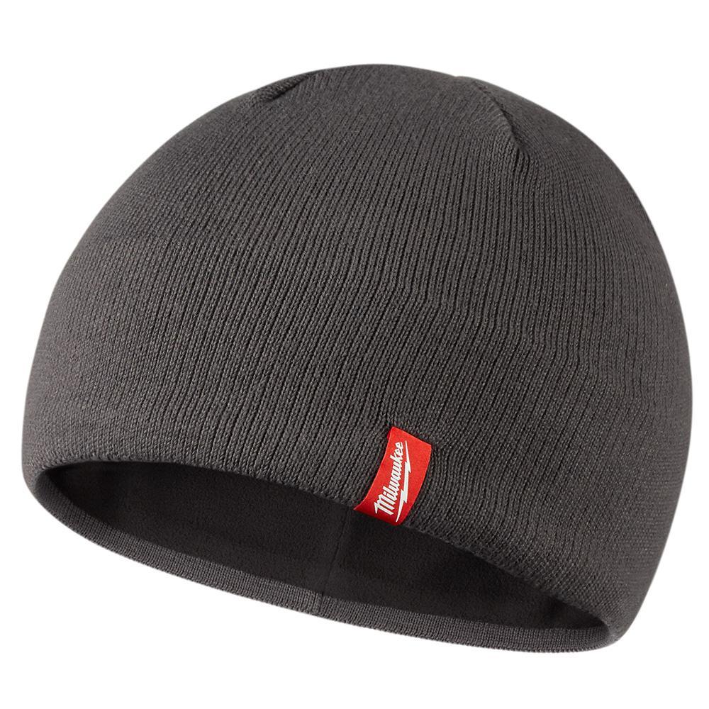 Men's Gray Fleece Lined Knit Hat
