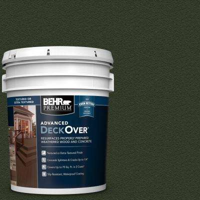 5 gal. #SC-120 Ponderosa Green Textured Solid Color Exterior Wood and Concrete Coating