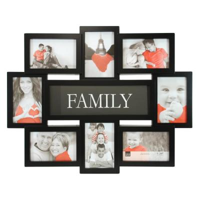 """kieragrace KG Family 8 Openings Collage Frame - Black, 17.5"""" by 22"""", 8 - 4"""" x 6"""" Photos"""
