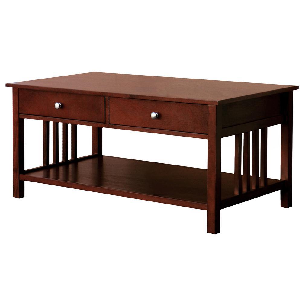 DonnieAnn Hollydale Chestnut 2 Drawer Coffee Table