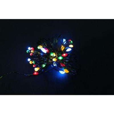 9 ft. 36 LEDs LED Ultra Slim Wire Multi Color String Light