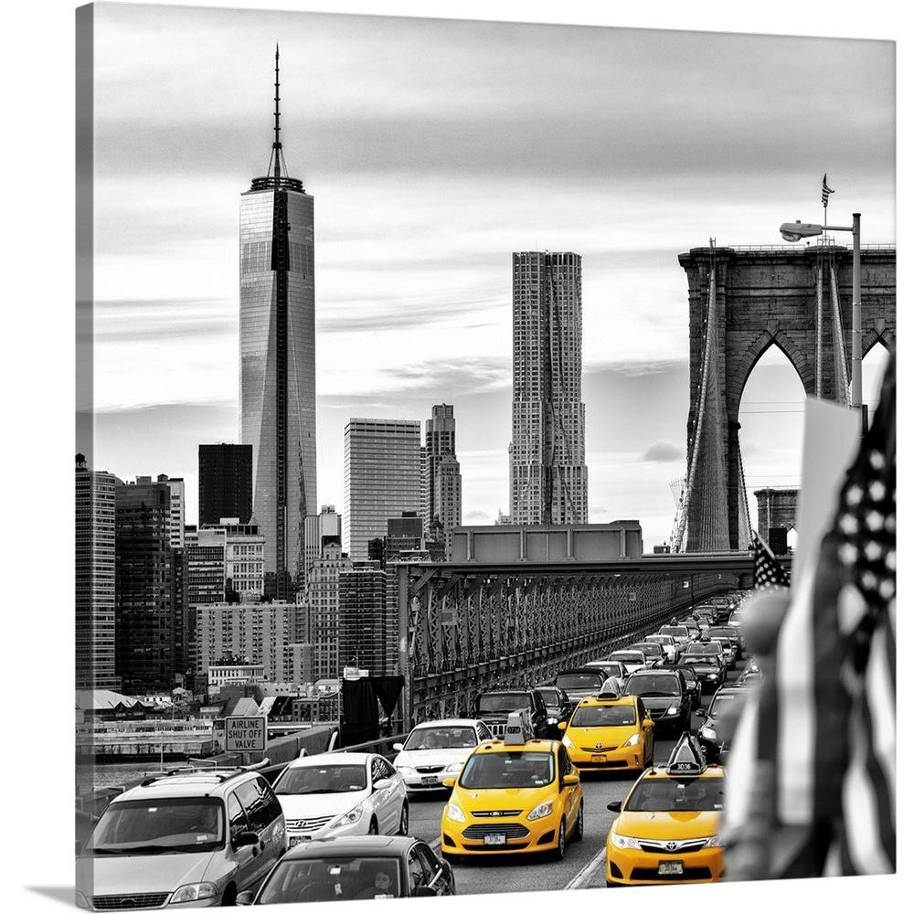 Greatbigcanvas new york city yellow taxis by philippe hugonnard canvas wall art 2377798 24 36x36 the home depot