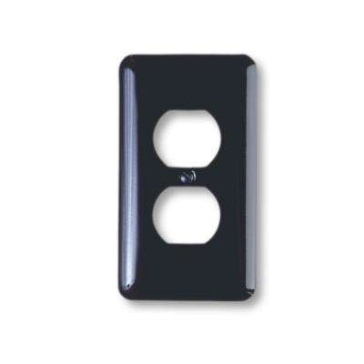 Steel 1 Duplex Wall Plate - Black