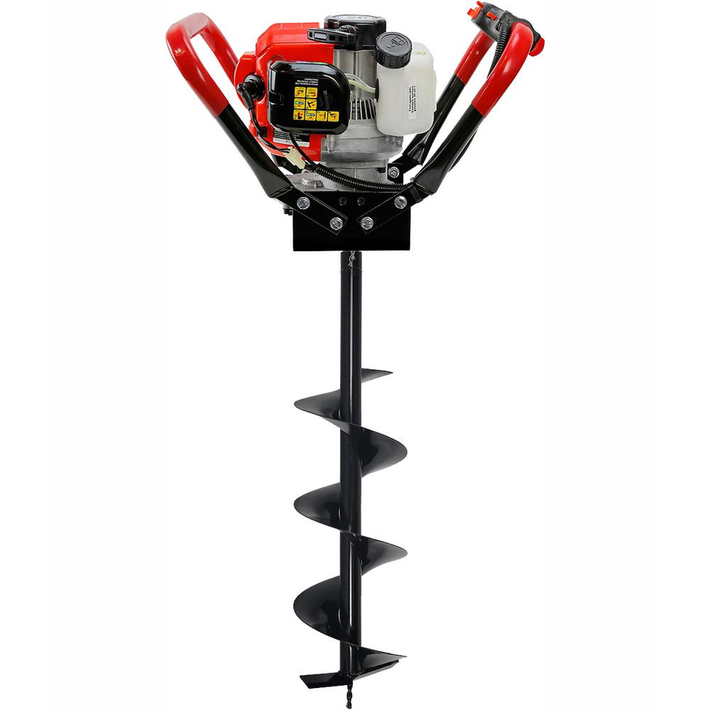 XtremepowerUS 55CC 1-Man Post Hole Digger with 8in Bit