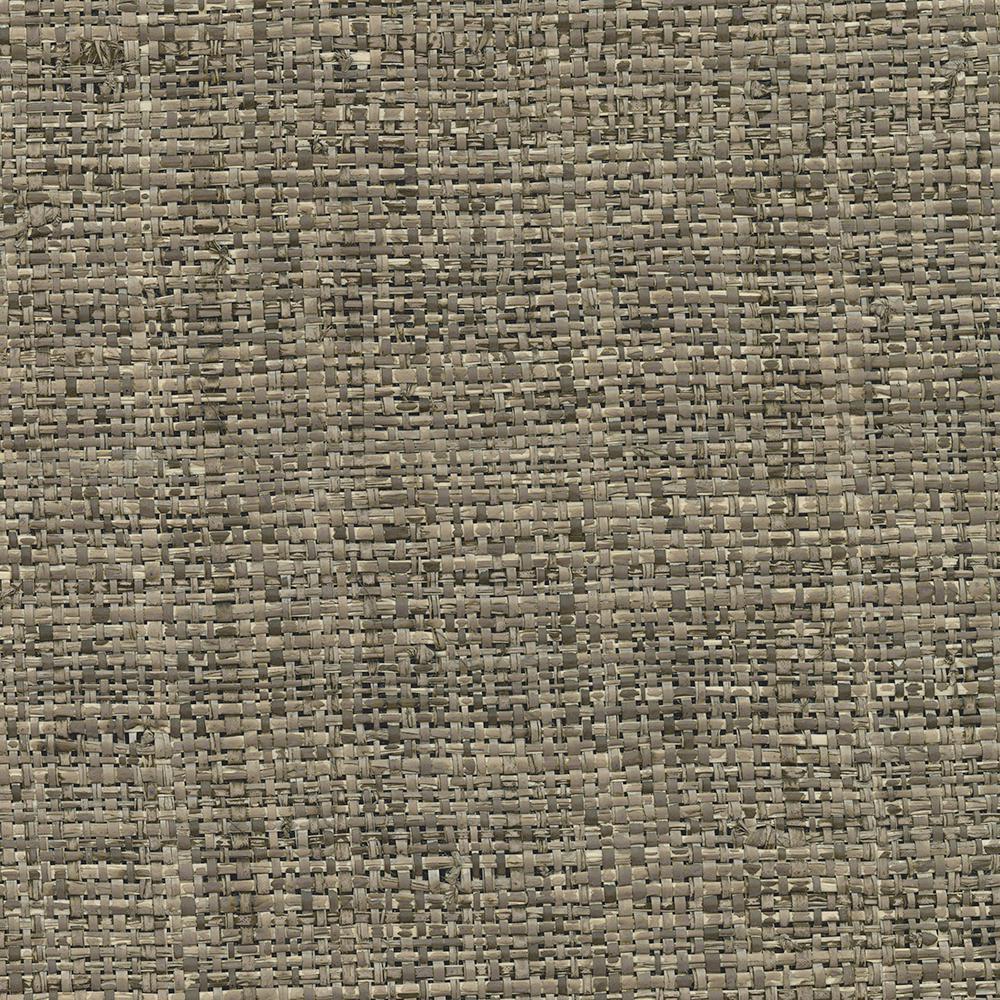 Kenneth James 72 sq. ft. Mindoro Espresso Grass Cloth Wallpaper