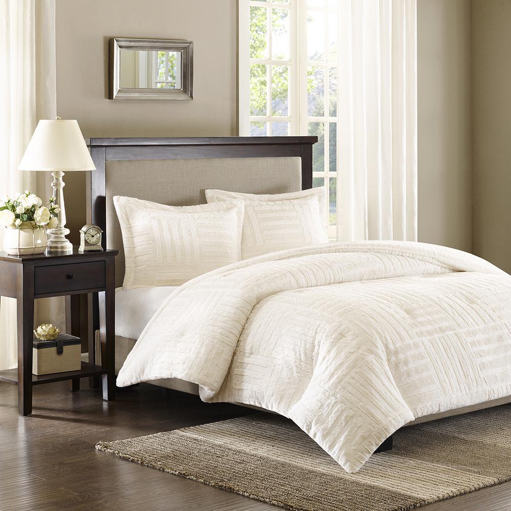 Polar 3 Piece Bedroom Set-White