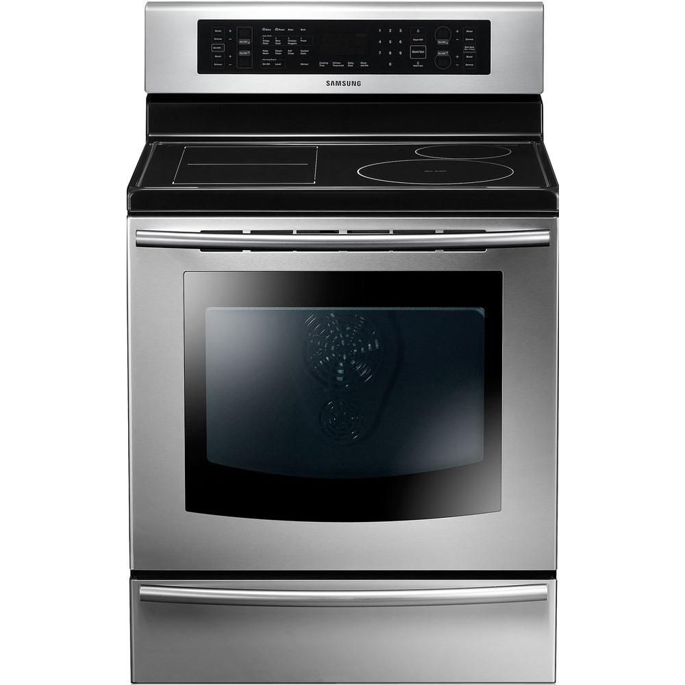 Samsung 5.9 cu. ft. Induction Range with Self-Cleaning True Convection Oven in Stainless Steel