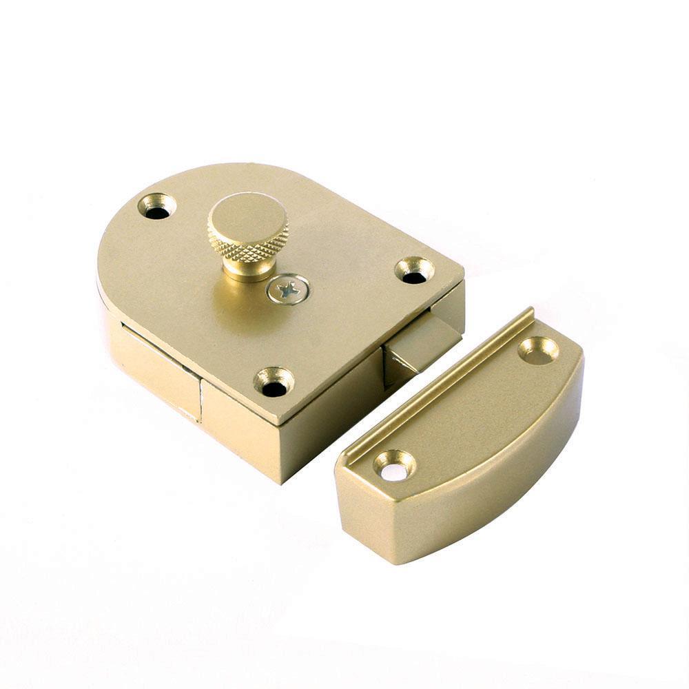 Brass Look Secret Gate Latch 989 Spr Br The Home Depot
