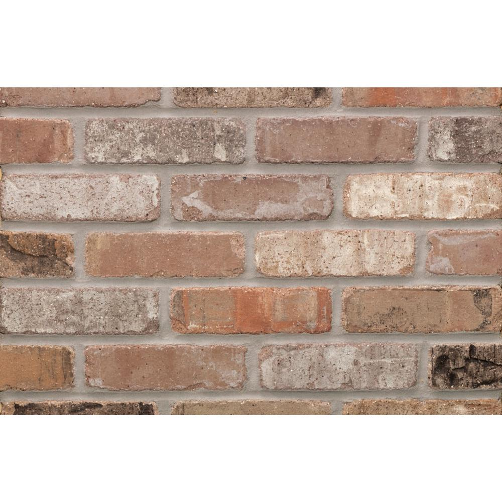 Providence carbon cut kiln fired thin brick tumbled smooth for Fired tiles