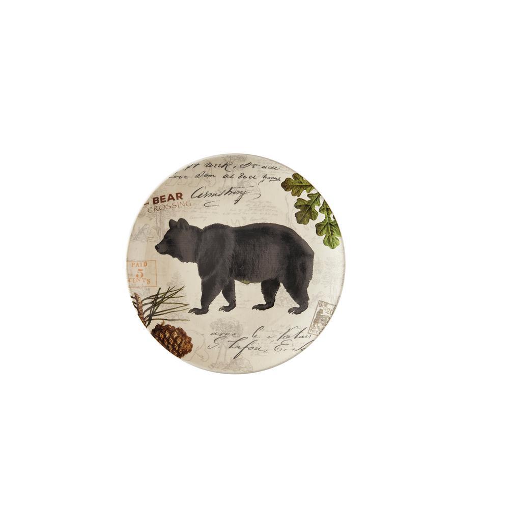 Wildlife Trail Tan Bear Salad Plate (Set of 4)