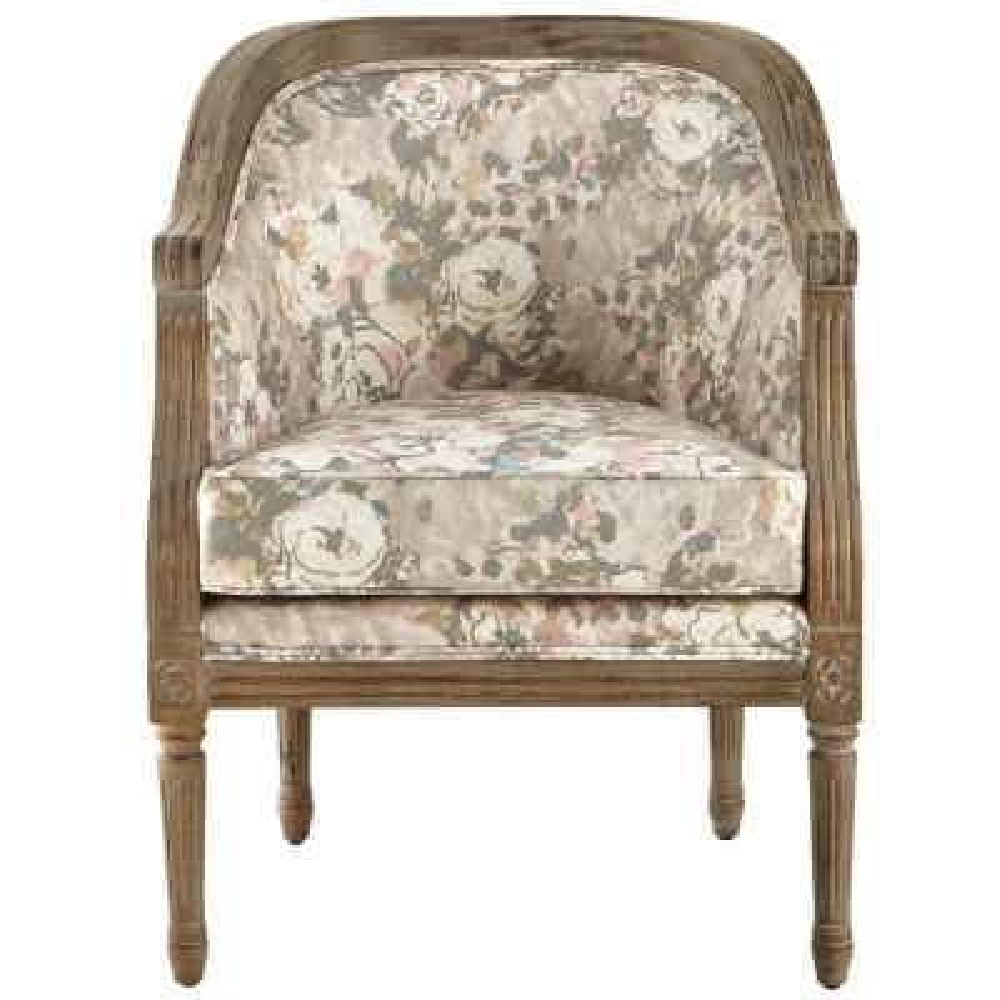 La Petite Barrel Primrose Blush Upholstered Arm Chair