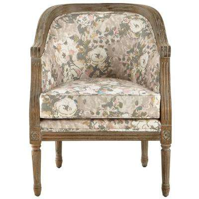 La Petite Barrel Primrose Blush Upholstered Arm Chair