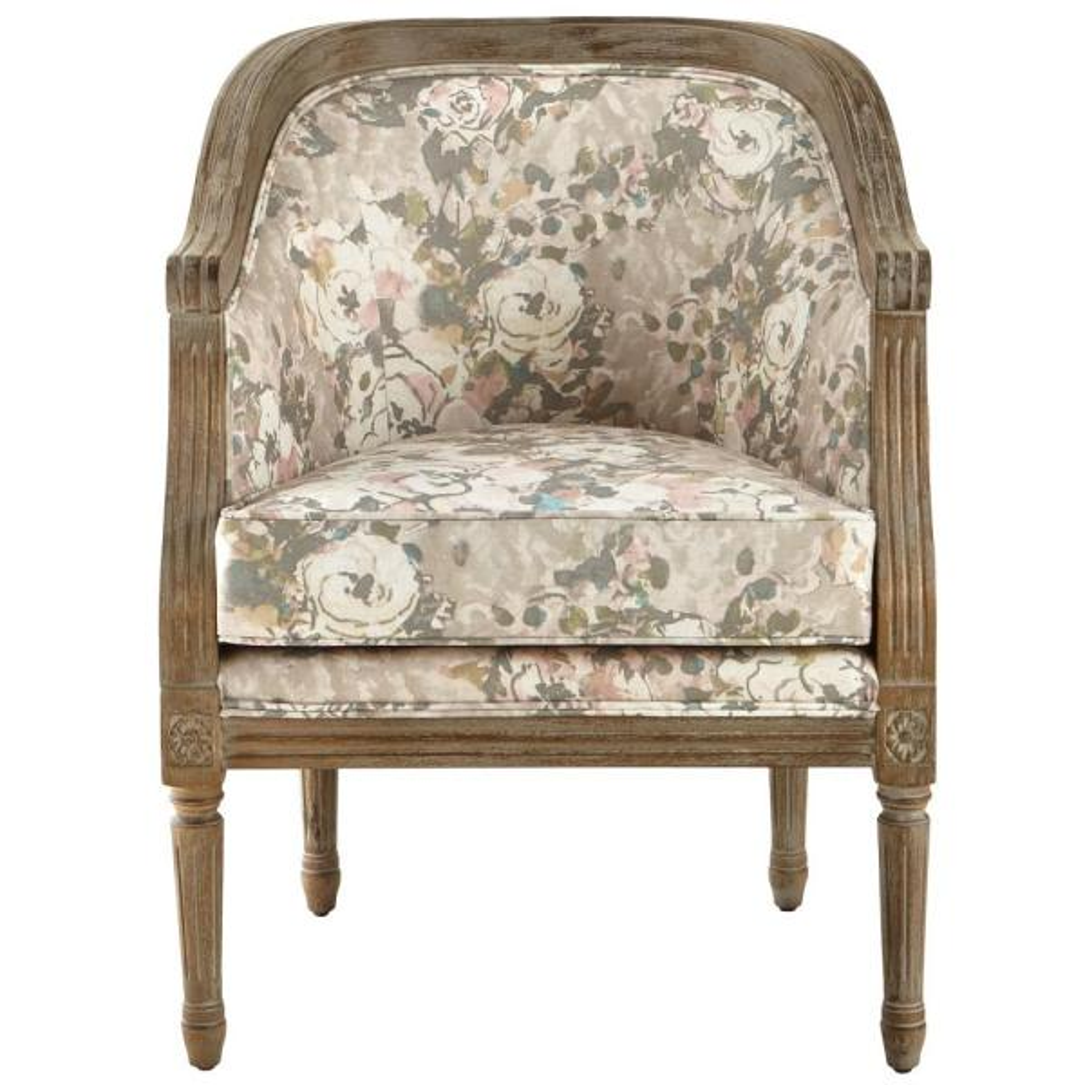 Home Decorators Collection La Petite Barrel Primrose Blush Upholstered Arm Chair